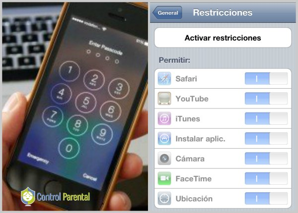 Restricciones iphone clave