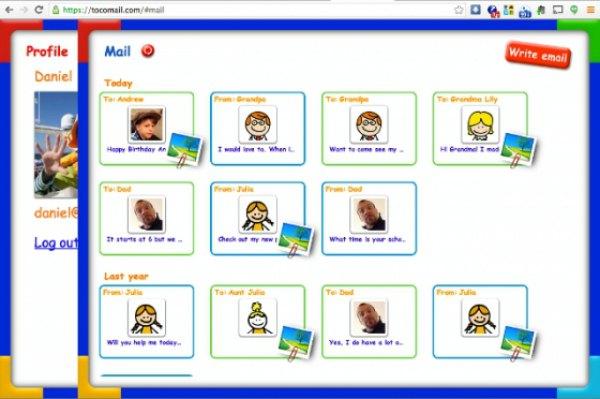 Tocomail constituye un correo electrónico seguro para niños.  Saber más.