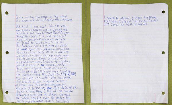 En su carta,Daniel Fitzpatrick narra todo lo sucedido